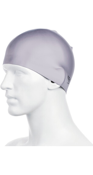 speedo Plain Moulded Silicone Cap Grey